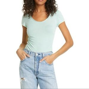 NWT Free People Sonnet Side Gathered T-Shirt M
